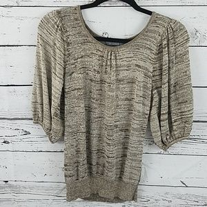 NY collection three-quarter sleeve sweater